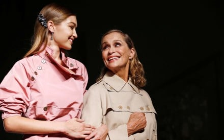 Gigi Hadid and Lauren Hutton present creations at the Bottega Veneta fashion show during Milan Fashion Week Spring/Summer 2017. Photo: REUTERS
