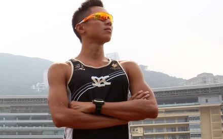 Ivan Lo Ching-hin in triathlon training in 2013. Photo: SCMP
