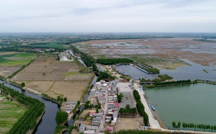 The Baiyangdian freshwater wetlands in Anxin, one of three counties that will make up the Xiongan New Area in Hebei province. Photo: Xinhua