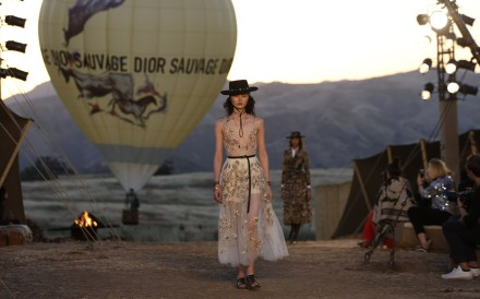 Maria Grazia Chiuri 's first cruise collection for Dior show in Los Angeles. Photo: Reuters
