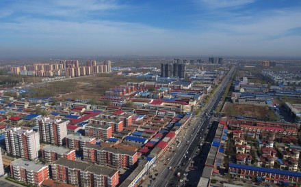 An aerial photo taken in April of Xiong country, which will be developed as part of plans to create the new city. Photo: Xinhua