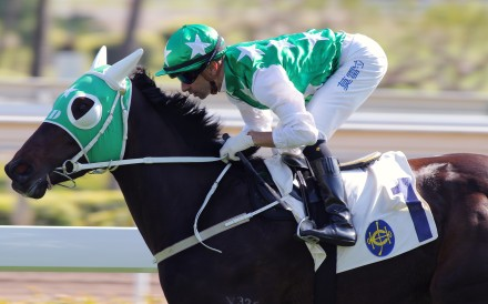 Joao Moreira rides Pakistan Star to victory in the Griffin Trophy in December. Photo: Kenneth Chan
