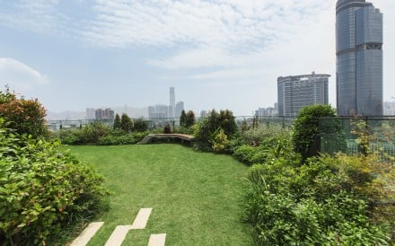 The rooftop garden at Skypark, in Mong Kok. Picture: Skypark