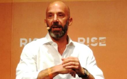 Gianluca Vialli speaks at Rise.