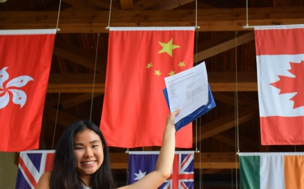 Nicole Hon from the Canadian International School of Hong kong achieved top scores and she is considering studying medicine at the University of Hong Kong or the University of Tornoto in Canada. Photo: CDNIS