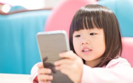 The Department of Health did not advise children below the age of two using electronic screens. Photo: Shutterstock