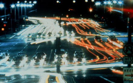 A still from Koyaanisqatsi, the 1982 film directed by Godfrey Reggio.