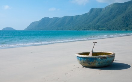 A coracle sits on An Hai Beach on Con Son Island, part of Vietnam's stunning Con Dao archipelago. Photo: Alamy