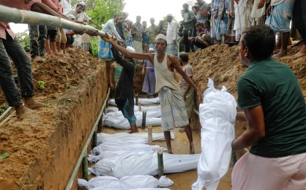 Rohingya refugees who died after their boat capsized. Photo: Reuters