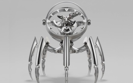 Octopod with silver legs.