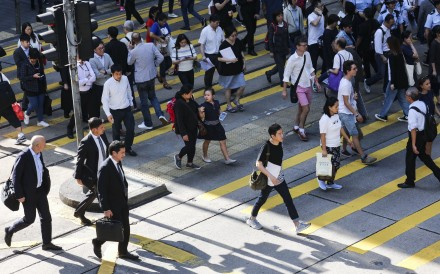 "People walk in Hong Kong's Central district, which gets middling ratings for ""walkability"". Photo: Felix Wong"