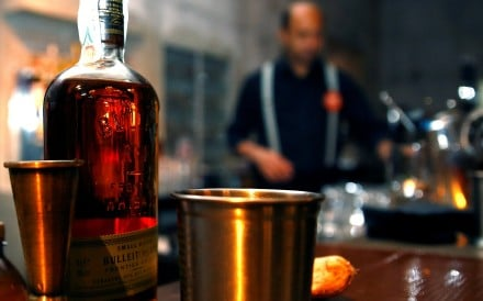 A bottle of Bulleit bourbon whiskey. Photo: Reuters
