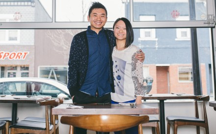 The Odd Couple's Andy Yuen and wife Rachel. They opened the restaurant two decades after Andy arrived in Saskatchewan, Canada, from Hong Kong.