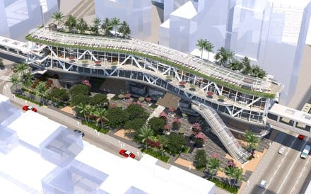 An artist's impression of 'Oasis Plaza' as proposed by Hong Kong district councillor Paul Zimmerman. Source: M CO Design