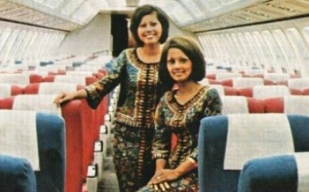 MSA flight attendants. Photo: Pinterest