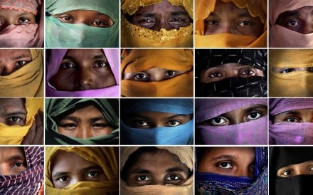 This combo photo comprises of portraits of some of the Rohingya Muslim women, who said they were raped by members of Myanmar's armed forces. Photo: AP