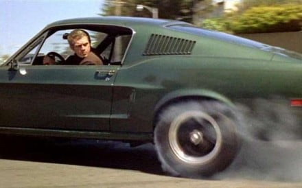 Actor Steve McQueen in an iconic 1960s Ford Mustang from the film 'Bullitt': Photo: Warner Bros