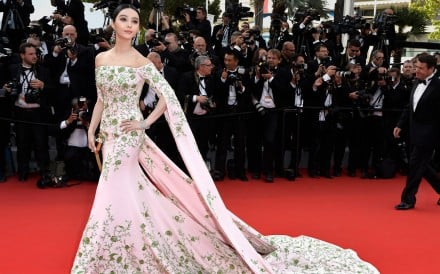 Fan Bingbing attends a red carpet event at the 68th annual Cannes Film Festival. Styled by Min Rui. Photo: Pascal Le Segretain