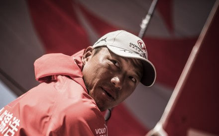 Horace Chen Jinhao is looking forward to arriving in Hong Kong. Photo: Martin Keruzore/Volvo Ocean Race