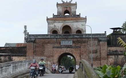 City was badly damaged by fierce urban warfare that followed North Vietnamese Army's surprise lunar new year attack in January 1968, but there's still much to see of citadel from where emperors ruled for 150 years