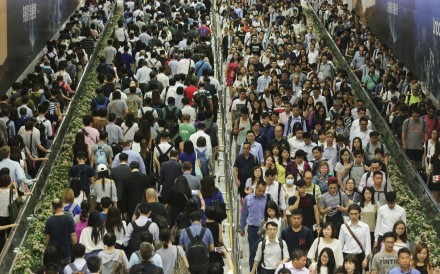 People head home between Hong Kong and Central MTR stations. Photo: Dickson Lee