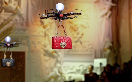 The clever use of drones – with the new collection's handbags dangling from their wings – takes Fashion Week by storm
