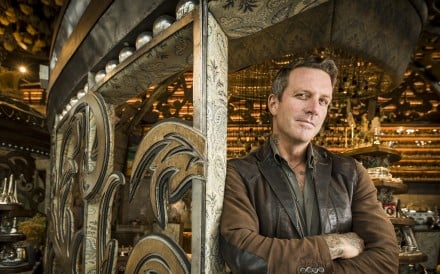Australian interior designer Ashley Sutton inside his latest Hong Kong creation, the IFC Mall restaurant Dear Lilly.
