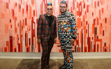 Two colourful Singaporean collectors at Art Basel Hong Kong 2018. Photo: Rachel Cheung