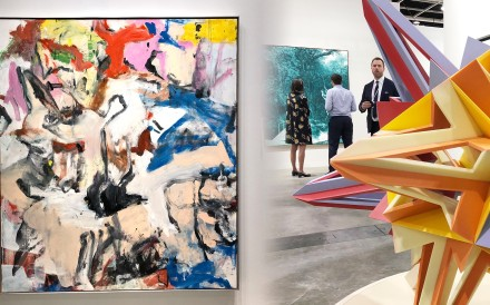 A collage of the artworks on display at the Lévy Gorvy booth. Photo: Kwokwang Chow