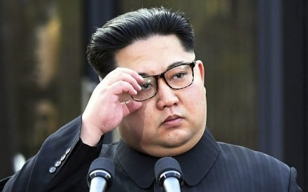 North Korean leader Kim Jong Un attends a ceremony after signing a joint  statement at the