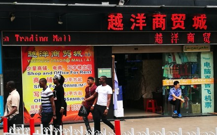 African nationals in Guangzhou, China. Fewer African traders are coming to the city in search of wealth than in previous years. Photo: He Huifeng