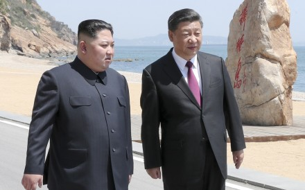 Xi Jinping and Kim Jong-un pictured in Dalian in northeastern China. Photo: Xinhua