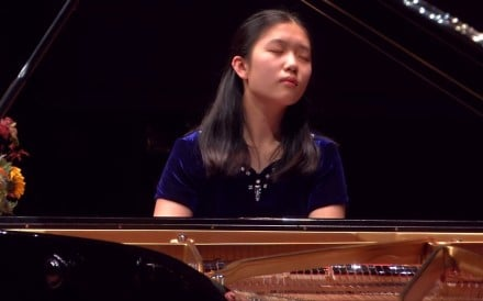 Lauren Zhang competing in the 2017 Aarhus International Piano Competition last March. Zhang, who lives in Birmingham, is the BBC's Young Musician of the year. Photo: AIPC