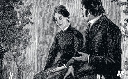 An undated etching of characters from Jane Eyre, the 1847 novel by Charlotte Brontë whose popularity in China rivals that of in the UK.