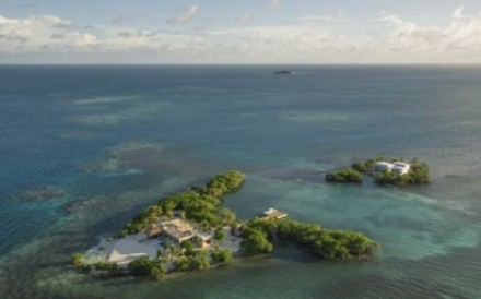 The Gladden Private Island hotel resort, off the coast of Belize, is actually two islands – one for guests and the other for staff. Photo: Gladden Private Island