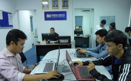 Though far from Beijing's sophisticated control of information, Cambodia's media landscape is starting to echo China's, according to Reporters Without Borders