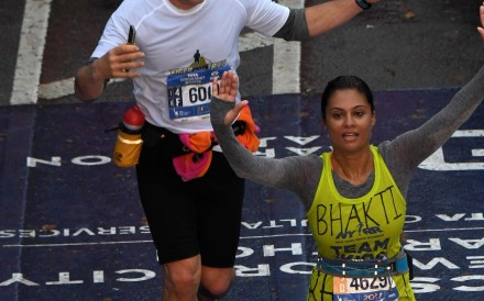 Bhakti Mathur finishes the New York City marathon in four hours and 45 minutes in November, 2017. Photo courtesy of Bhakti Mathur