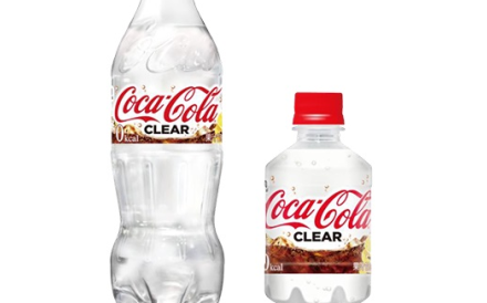 Coca-Cola Japan has released has a new version of Coke, and it is colourless. Photo: Coca-Cola Japan