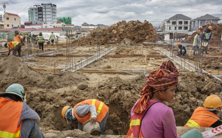 One of many construction projects in the Cambodian capital of Phnom Penh. Pictures: Jonas Gratzer