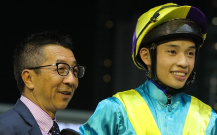 Trainer Me Tsui and jockey Jack Wong. Photos: Kenneth Chan.