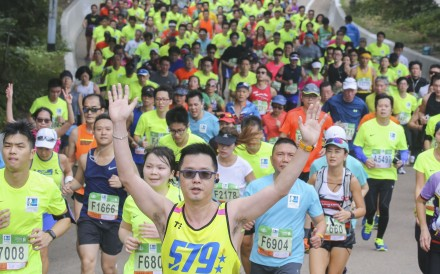 Runners tackle the 2018 Standard Chartered Hong Kong Marathon. Photo: Dickson Lee