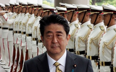In a speech to military officers, Japanese PM says the security situation has grown severe at a much faster pace than five years ago