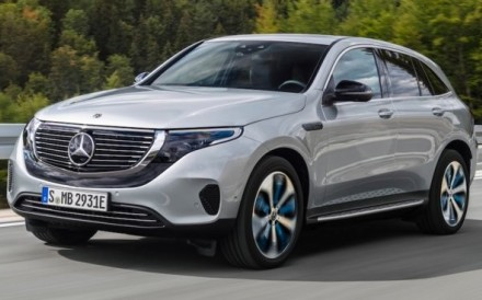 The new all-electric Mercedes-Benz EQC sport utility vehicle, which will have a range of up to 200 miles, will go into production in 2019 and be available in the United States in 2020.