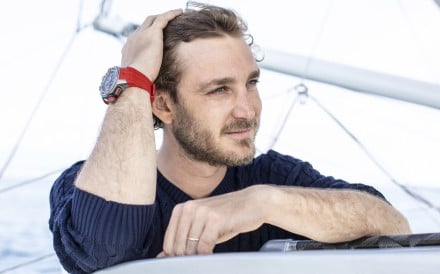 Richard Mille's partner, Pierre Casiraghi, a young Monaco royal, wearing the brand's watch