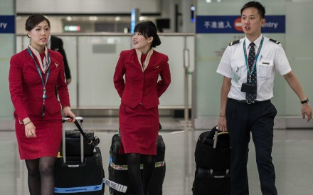 The retirement age deal struck by cabin crew has emboldened the carrier's pilot union, which is also seeking similar terms. Photo: AFP/ Philippe Lopez