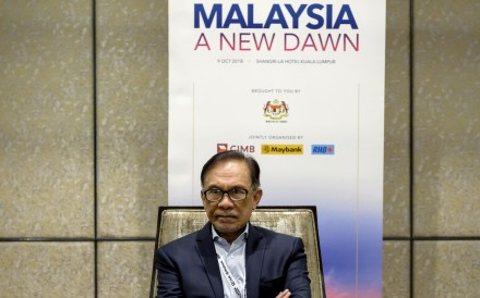 Anwar Ibrahim at the 'Malaysia: A New Dawn' conference in Kuala Lumpur on Tuesday. Photo: Bloomberg