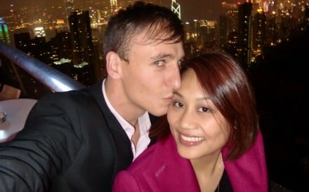Tim Coghlan and his wife, Enoch Li, enjoy a night out in Hong Kong. He helped her overcome severe depression and go on to help others fighting the disease. Photo: Enoch Li