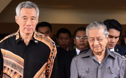 Malaysia's Prime Minister Mahathir Mohamad and Singapore's Prime Minister Lee Hsien Loong. Photo: AFP