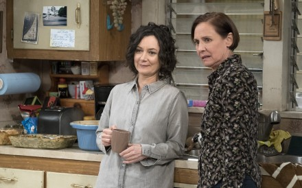 "Sara Gilbert, left, and Laurie Metcalf in ""The Conners"". Photo: Eric McCandless, ABC"