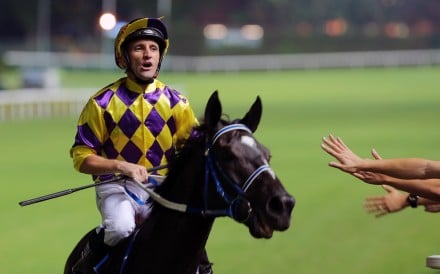 Neil Callan after riding a winner at Happy Valley two weeks ago. Photos: Kenneth Chan